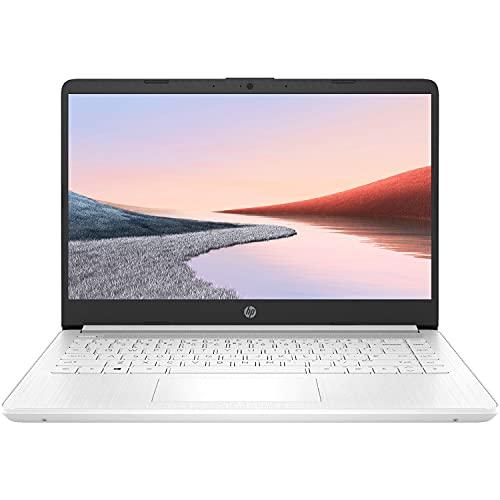 2021 Newest HP Premium 14-inch HD Laptop, Intel Dual-Core Processor Up to 2.8GHz, 4GB RAM, 64GB eMMC Storage, Webcam, Bluetooth, HDMI, Wi-Fi, White, Windows 10 with 1 Year Microsoft 365