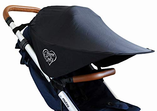 UV-Schutz Sonnenschutz Für Kinderwagen Buggy Sonnenblende Sonnensegel Baby Sonnenschirm Elternstolz Passt auf Babyzen Yoyo und Recaro Easylife, Schwarz