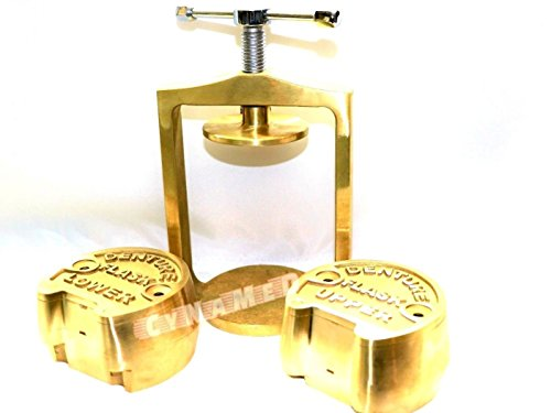 Premium Dental Laboratory LAB Spring Press Compress W/Two Brass Denture Flask (CYNAMED)