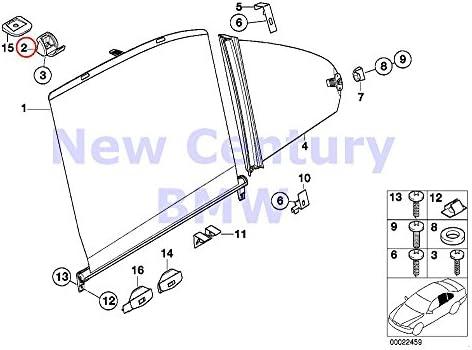 Rear Door Window Sun Blind Curtain Sun Shade Roller Holder Clips For BMW E39 M5