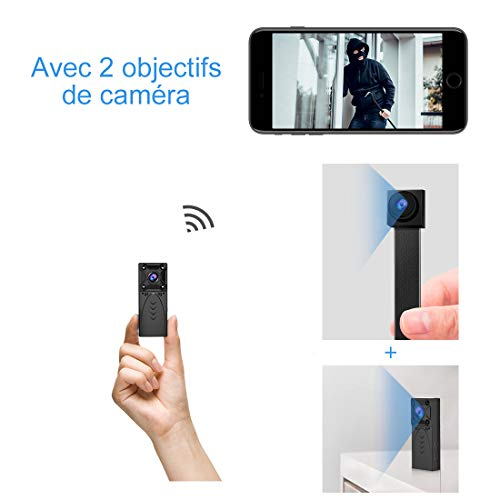 Caméra Espion Surveillance WiFi Mini - KEAN IP HD 1080P Cachée Cam...