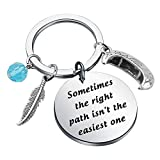 SEIRAA Pocahontas Inspired Charm Bracelet Sometimes Path Isn't The Easiest One Gift for a Courageous Princess (Pocahontas keychain)