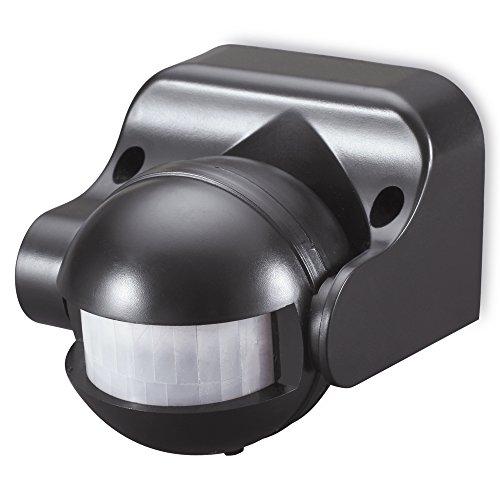 sonero IMS041 Infrarot-Bewegungsmelder - Innen- / Außenmontage, schwarz, Schutzklasse: IP44, 180° / 12m Arbeitsfeld