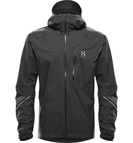 Haglöfs Regenjacke Herren Winterjacke L.I.M Wasserdicht, Winddicht, Atmungsaktiv, Kleines Packmaß True Black L L - Empty for carryovers -