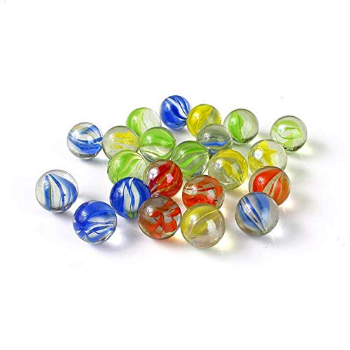 Set of 20 Clear Glass Marbles Bulk Kids DIY Craft Toy Marble Run Accessory Party Favors 16mm