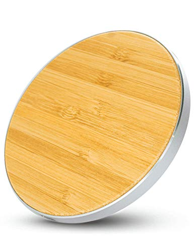 KabellosLaden® - Wireless Charger iPhone 12/12mini/11/11 Pro/11 Pro Max/XR/XS/X/8/8+ - Qi Ladestation iPhone aus Holz - Induktive Ladestation iPhone - kabelloses Ladegerät - Induktionsladegerät