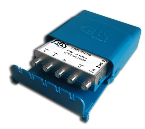G.B.S. Elettronica DPE-4 Splitter per cavo Blu, Argento