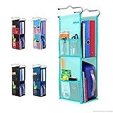 Abra Company 2 Shelf Hanging Locker Organizer for School, Gym, Work, Storage - Upgraded Eco-Friendly Fabric Healthy for...