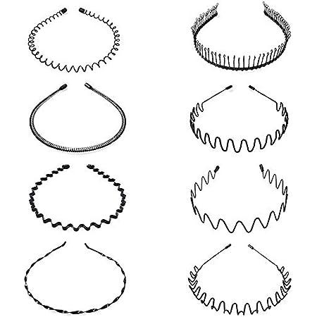 8 pezzi di cerchi per capelli in metallo. Fascia per capelli a forma di onda per capelli Accessori per capelli per uomo e donna