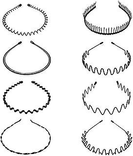 8 pezzi di cerchi per capelli in metallo. Fascia per capelli a forma di onda per capelli Accessori per capelli per uomo e ...