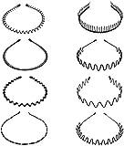 8pcs Metal Hair Hoop Spring Wave Hair Band Multi-style Diadema Accesorios para el cabello para Hombres Mujeres Niñas