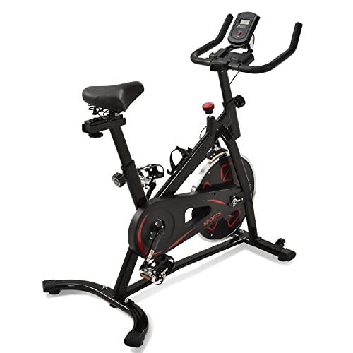 WZFANJIJ Smart Bike Bicicleta Estática. Freno Magnético. Transmisión por Correa, súper silenciosa. Ajustable y Resistente,Red