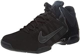 Nike Mens Air Visi Pro VI Nubuck Basketball Shoe Black/Anthracite 11.5