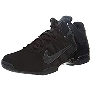 Nike Mens Air Visi Pro VI Nubuck Basketball Shoe Black/Anthracite 13