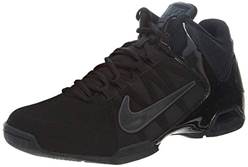 Nike Air Visi Pro VI Nubuck Men's Basketball Shoes, Black/Anthracite, Size 9.5