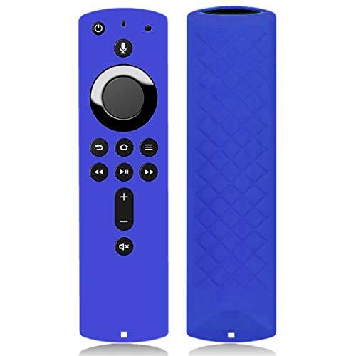Xbeast Silicone Case Kompatibel mit Amazon Fire TV-Stick 4K TV-Stick Remote Case Schutzhülle 5,6 Zoll (Blau)
