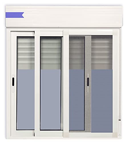 Ventanastock Ventana Aluminio Corredera Con Persiana PVC 1000 ancho × 1150 alto 2 hojas Con Mosquitera