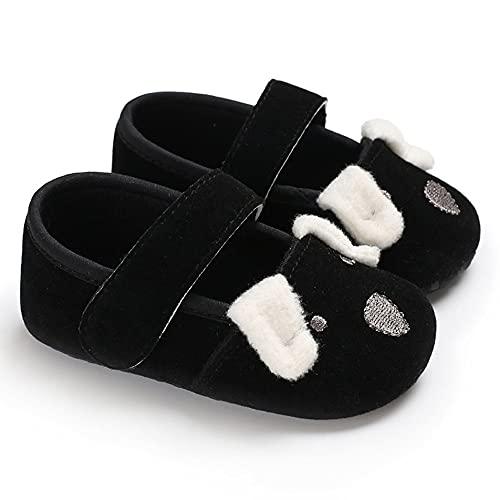 Yixikejiyouxian Zapatos de bebé de Dibujos Animados con patrón de Perro, Zapatos de Suela Suave Antideslizantes para bebés, adecuados para bebés de 0 a 1 año, niñas, niños, pre-Caminantes
