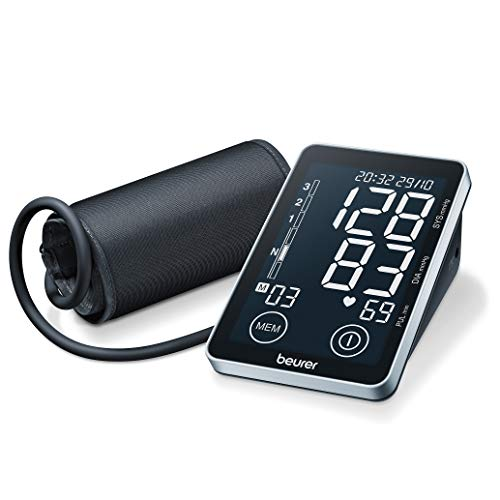 Beurer BM 58 - Tensiómetro de brazo, memoria 2 x 60 mediciones, conexión a PC, touch screen