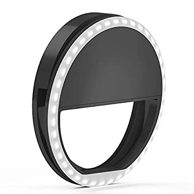 Selfie Ring Light by TalkWorks - Small Clip On LED Video Conference Lighting Circle Cell Phone Light Ring for iPhone/Android, iPad, Laptop Computer, Webcam/Zoom, Camera/Photography, Recording by TalkWorks