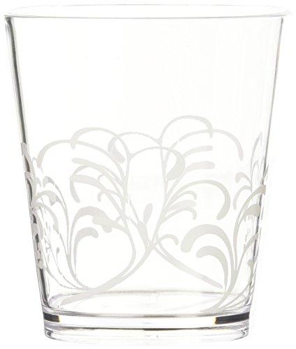 Corelle Coordinates by Reston Lloyd Boutique Cherish Acrylic Rock Glasses, 14-Ounce, Set of 6