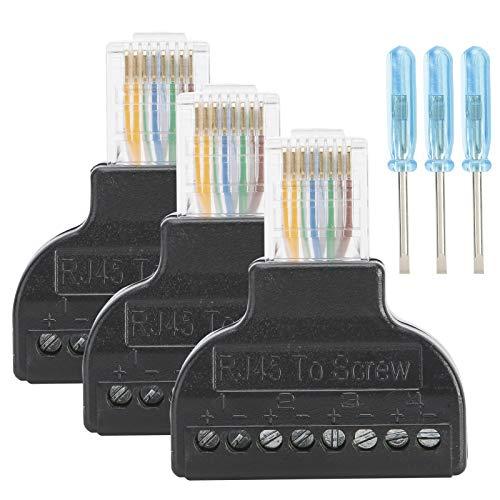 Socobeta Gran Rendimiento Conector de transmisión de señal Estable Adaptador Enchufe Jack Material plástico Digital de Larga duración para AV