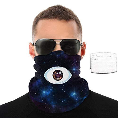 PCYN BAd BuNNY Eye Seamless Bandana Pañuelo en la cabeza Cubierta protectora suave a prueba de viento con 6 filtros