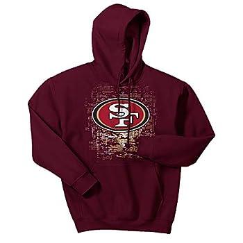 NFL San Francisco 49ers Men s Digital Logo Hoodie Maroon Large