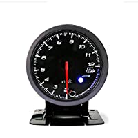 YTGUEVKDH 排気ガス・ゲージのLED 12Vユニバーサル車の自動車2.5インチ60ミリメートル