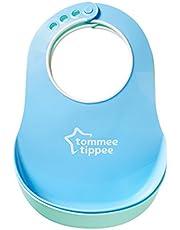 Tommee Tippee Essentials Baby Bibs - Crumb Catcher & Soft Edging Around Neck - Dishwasher Safe, BPA-free, 6+ months