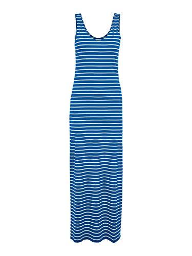 ONLY Damen ONLMAY Life S/L V-Neck Stripe Dress JRS Kleid, Victoria Blue, M