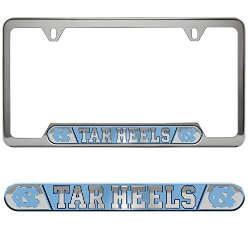 FANMATS University of North Carolina - Chapel Hill Embossed License Plate Frame
