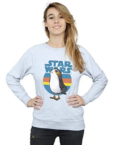 Star Wars Damen The Last Jedi PORG Sweatshirt Sport Grau Medium
