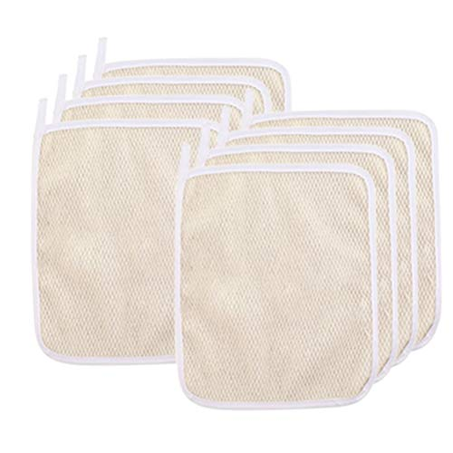 8Pack Exfoliating Nylon Terry Cloth Soft-Weave Wash Cloths Massage Bath Cloth for Women and Man Skin Care, Shower Scrubber, Remove Dead Skin, Beauty Skin Home Massage Bath Cloth