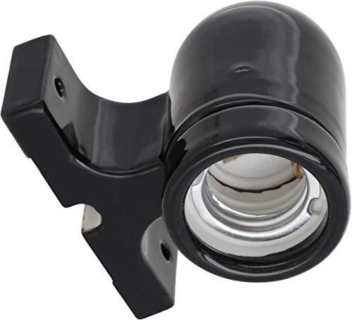 Premium - Lámpara de techo (E27, 230 V, porcelana, alta frecuencia, máx. 1000 W), color negro