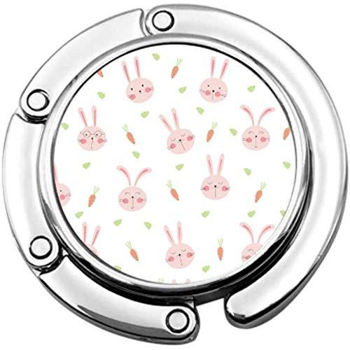 portemonnee haak schattig konijn Cartoon patroon dier vouwen handtas tafel Hanger-Bag Hanger Collection-Bureau haken