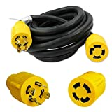 Leisure Cords 4-Prong 15 Feet 30 Amp Generator Cord, 10 Gauge Heavy Duty L14-30 Generator Power Cord Up to 7,500W (15-Feet)