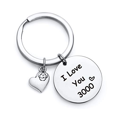 I Love You 3000 Keychain for dad gift Iron Man keychain for dad keychain husband keychain daughter keychain Marvel keyring for boyfriend gift Marvel keychain Iron Man gifts I Love You 3000 Key ring