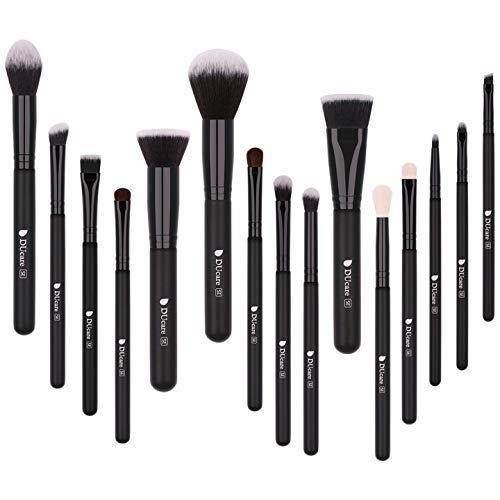 DUcare Brochas de Maquillaje 15 Piezas Premium Brochas Maquillaje Cerdas de Fibra Sintética Suaves y sin Crueldad kit Brochas Maquillaje