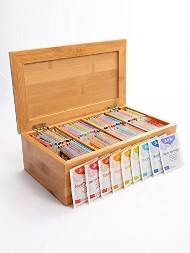 Yogi Tea boîte en bois contenant 47 délicieuses variétés de thé Yogi I 2 sachets de thé par variété I qualité biologique I set de dégustation exclusif de Yogi Tea I ensemble de thé avec 94 sachets