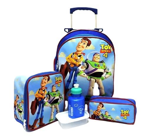 Kit Mochila Infantil Escolar Toy Story Rodinhas Tam M F5