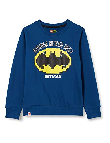 LEGO Jungen Mwa Batman Sweatshirt, 577 Dark Blue, 122