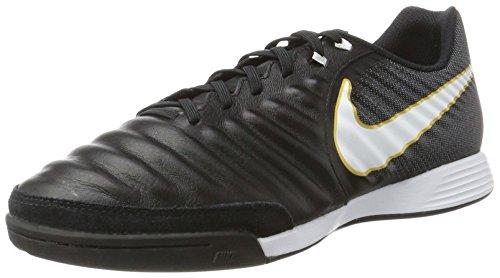 Nike Tiempox Ligera IV IC, Botas de fútbol Hombre, Negro (Black/White/Black/Metallic Vivid Gold), 42 EU