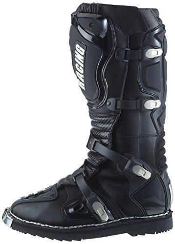 Protectwear Crossstiefel, Endurostiefel Racing aus Leder mit Kunsstoffschnallen, Schwarz, 41 - 6