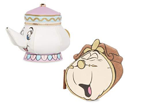 Disney ~ die Schöne und das Biest ~ Mrs.Potts ~ Cogsworth~ 3D~ Reißverschluss Geldbörse