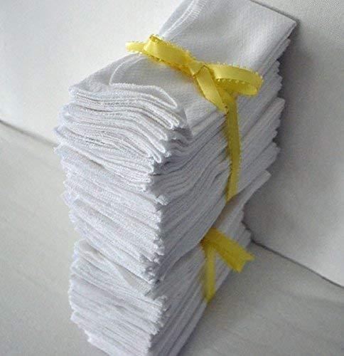 1 Ply Many popular Atlanta Mall brands 11x12 Inches White Cotton of Towel Birdseye Set Paperless