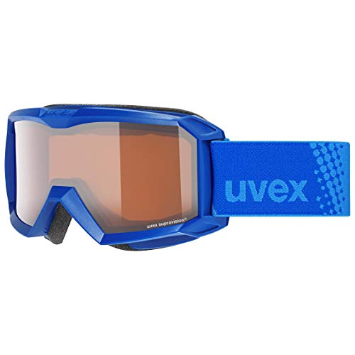 Uvex Unisex-Jugend flizz LG Skibrille, inkblue/lasergold-Clear, one Size
