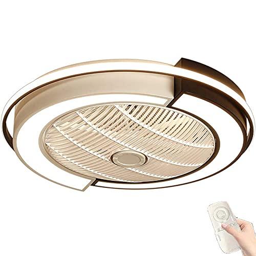 Ventilador de Techo con Luz Lámpara, ventilador de techo con Regulable Mando a Distancia LED Ventilador Invisible silencioso Lámpara de techo con 3 velocidad de viento ajustable, 3000-6000K,B