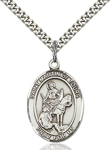bliss Sterling Silver Saint Martin of Tours Medal Pendant, 1 Inch