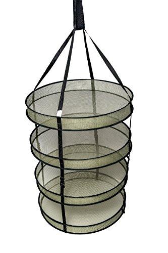 Mixtitude - Séchoir à herbes à suspendre à 4 niveaux avec sac de culture et pochette de rangement zippée - Dimension séchoir : 22 \